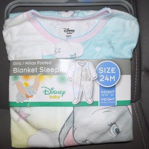 Disney Baby Dumbo Footed Sleeper Size 24 Months New